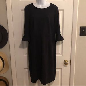 Black Dress with 3/4 length bell sleeve